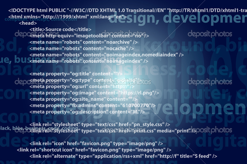 Source code technology background, editable vector  Stock Photo #10049134