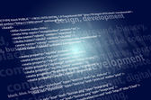 Source code technology background, editable vector — Stock Photo
