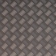 Detailled diamond plate metal texture — ストック写真