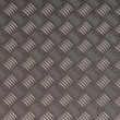 Detailled diamond plate metal texture — 图库照片