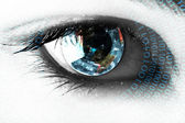 Earth in the eye — Stock Photo
