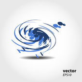 Abstract 3D wave background composition - vector illustration — Foto de Stock