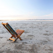 Royalty-Free Stock Photo: Beach wooden chair - isolated concept, Australia