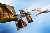 World cloud technology, Background concept — Stockfoto