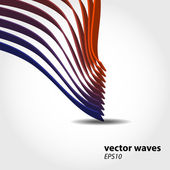 Abstract 3D wave background composition - vector illustration — Stock Photo