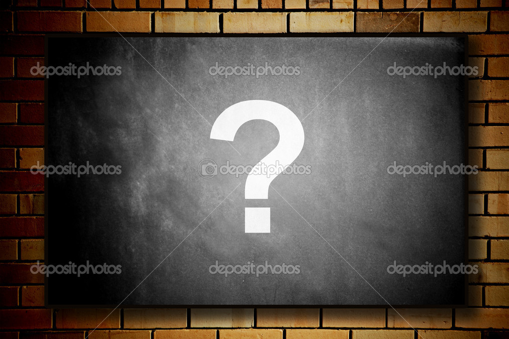 Blackboard with question mark — Stock Photo #8755584