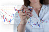 Forex trading — Stock Photo