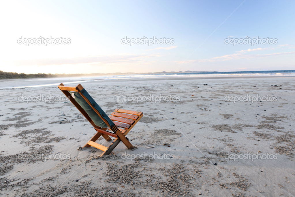 Beach wooden chair - isolated concept, Australia  Stock Photo #8769972
