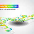 Rainbow numbers — Stock Photo