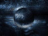 Bron code technologie achtergrond — Stockfoto