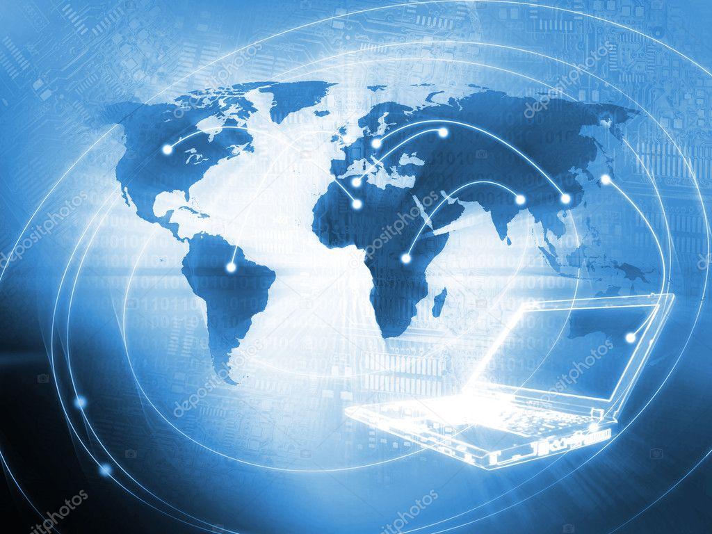 Technology Background Laptop: Stock Photo © Semisatch