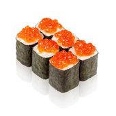 Dania kuchni japońskiej. maki sushi z kawiorem — Zdjęcie stockowe