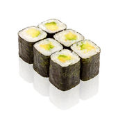 Japanese cuisine. Sushi roll with avocado. — Stock Photo