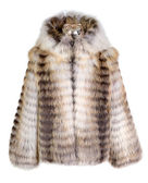 Real fur coat isolated on white background — Stock Photo