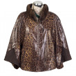 Brown women's jacket with fur — Stock Photo #9696562