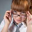 Girl with glasses - Stockfoto