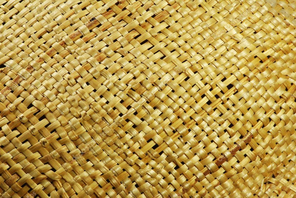 Yellow wicker texture macro background  Stock Photo #10077163
