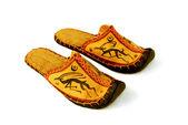 Mongolian slippers — Stock Photo