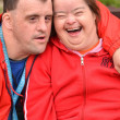 Couple with Down Syndrome — Stock Photo #10197265