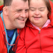 Couple with Down Syndrome — Stock Photo #10197270