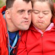 Couple with Down Syndrome — Stock Photo #10197276