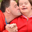 Couple with Down Syndrome — Stock Photo #10197290