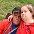Couple with Down Syndrome - Stock Photo
