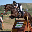 Rider in the jumping show — Photo