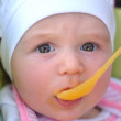 First time with a spoon — Stock Photo #10377399