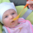 First time with a spoon — Stock Photo #10377406