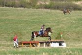 Rider eventing horse trial — Stock Photo