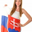 Sexy slovakian fan — Stock Photo #10428049