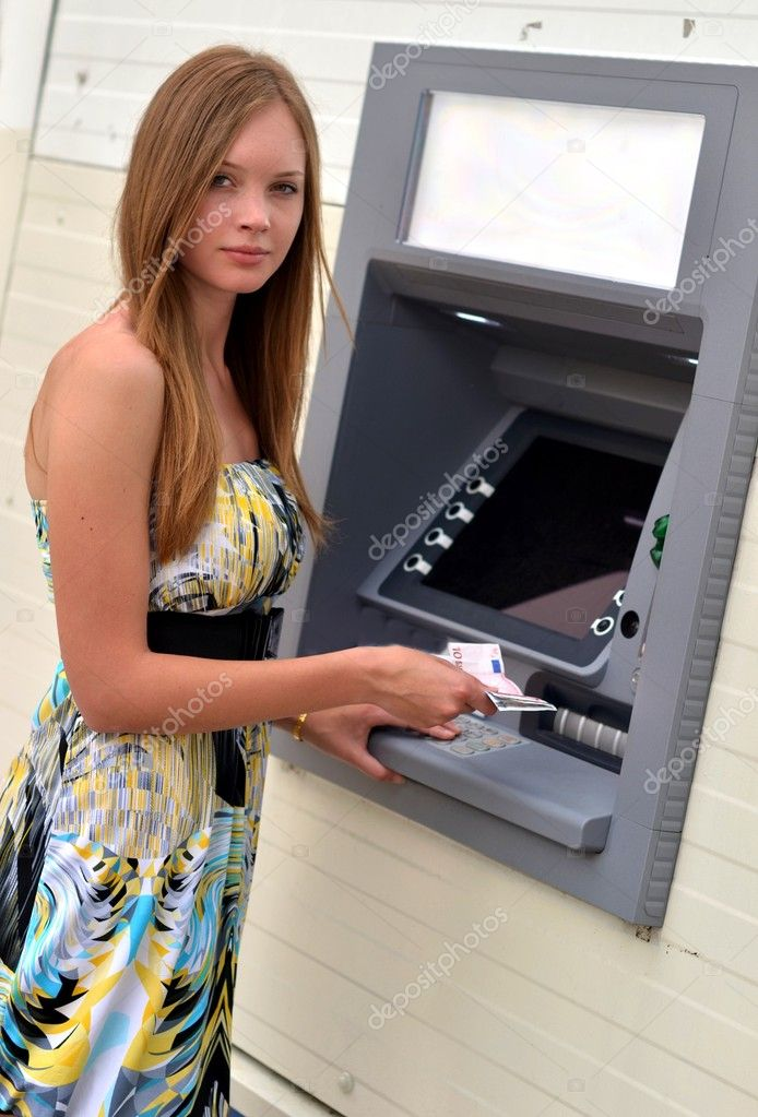 Woman at the ATM  — Stock Photo #10458948