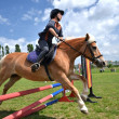 Rider in jumping show — Stockfoto #10549679