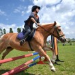Foto de Stock  : Rider in jumping show