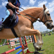 Rider in jumping show — Stock Photo #10560048