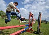 Saut d'obstacles — Photo