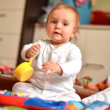 Stock Photo: Baby playing