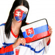 Royalty-Free Stock Photo: Slovakian fan