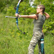 Stock Photo: Bow hunting