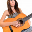 Sexy young woman with guitar — Stock Photo #7963902