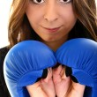 Young beautiful boxer woman — Stock Photo #8005016