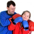 Couple boxer with down syndrome — Stock Photo #8109738
