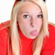 Sexy blond devil woman — Stock Photo #8166363