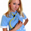 Nurse or doctor isolated — Stock Photo