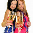 Royalty-Free Stock Photo: Two beautiful women celebrate