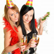 Two beautiful women celebrate — Stock Photo #8294540