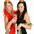 Two beautiful women celebrate — Stock Photo #8294545