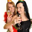 Two beautiful women celebrate — Stock Photo #8294549