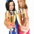 Two beautiful women celebrate — Stock Photo #8350865